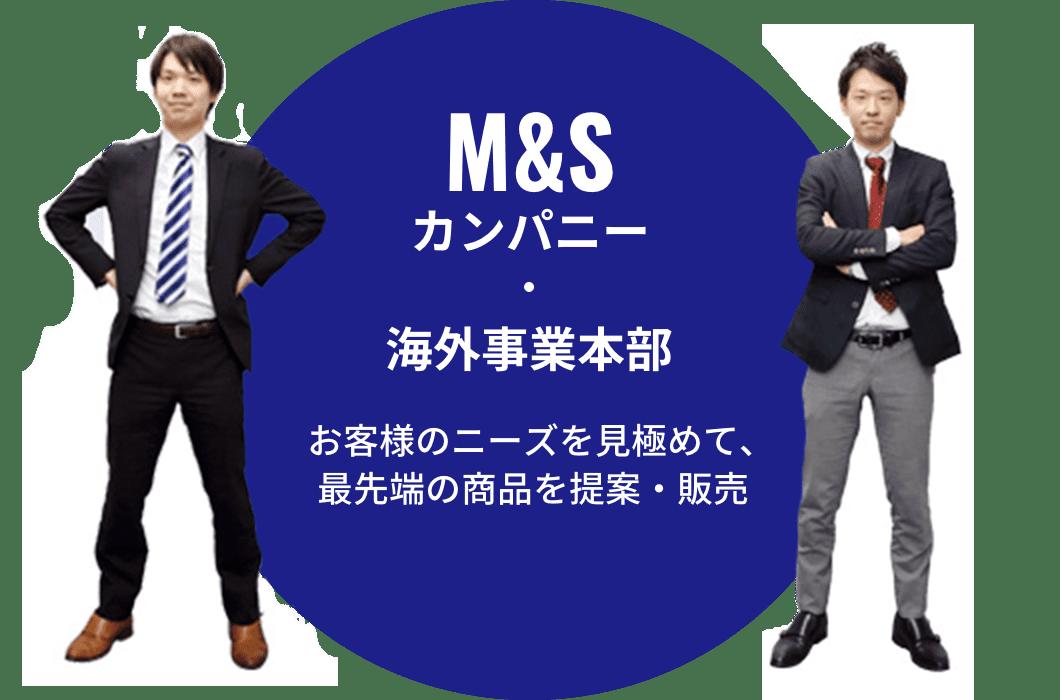 M&Sカンパニー・海外事業本部 お客様のニーズを見極めて、最先端の商品を提案・販売