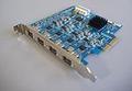 IEEE1394b/800Mbps対応、PCI Expressボード(×4)